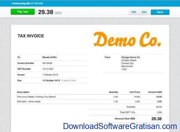 Aplikasi untuk Membuat Invoice xero invoice