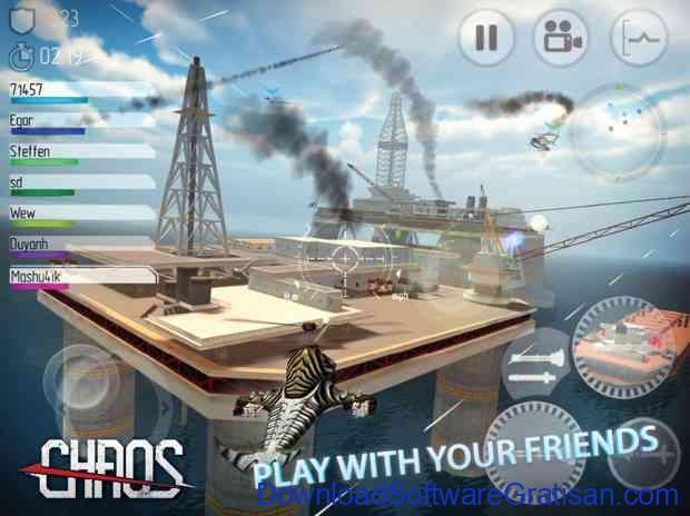 Game Simulator Pesawat Terbaik untuk Android CHAOS Combat Helicopter 3D
