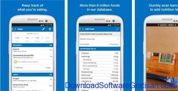 Aplikasi Gratis Android yang Berguna dan Bermanfaat Calorie Counter - MyFitnessPal