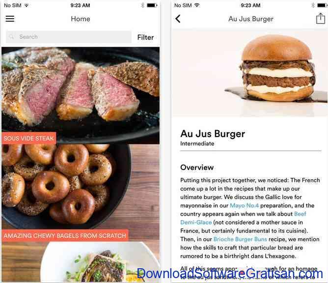 Aplikasi Resep Makanan ChefSteps