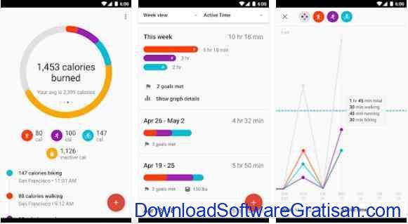 Aplikasi Gratis Android yang Berguna dan Bermanfaat Google Fit - Fitness Tracking