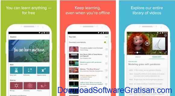 Aplikasi Gratis Android yang Berguna dan Bermanfaat Khan Academy