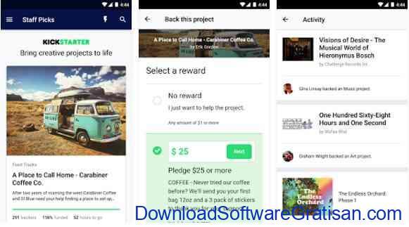 Aplikasi Gratis Android yang Berguna dan Bermanfaat Kickstarter