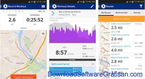 Aplikasi Gratis Android yang Berguna dan Bermanfaat Map My Fitness Workout Trainer