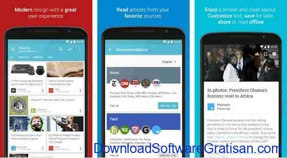 Aplikasi Gratis Android yang Berguna dan Bermanfaat Palabre Feedly RSS Reader News