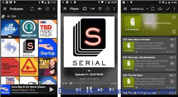 Aplikasi Gratis Android yang Berguna dan Bermanfaat Podcast & Radio Addict