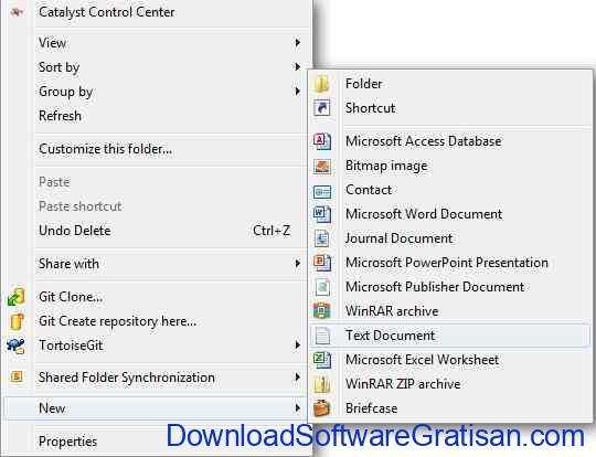 cara mengunci folder: membuat file txt