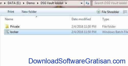 cara mengunci folder: folder private