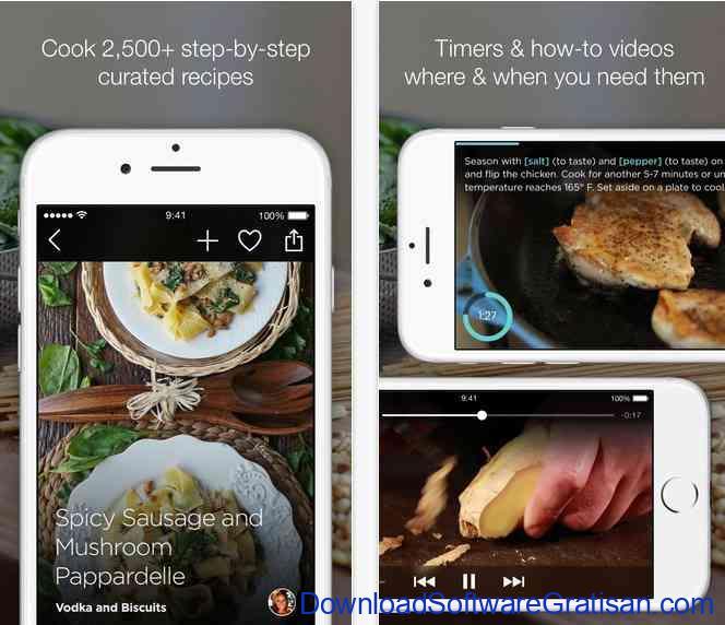 Aplikasi Resep Makanan SideChef