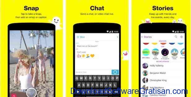 Aplikasi Gratis Android yang Berguna dan Bermanfaat Snapchat