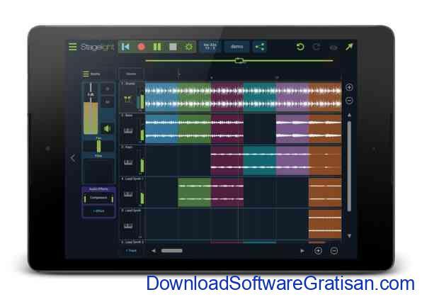 Aplikasi Gratis Android yang Berguna dan Bermanfaat Stagelight Audio and MIDI DAW