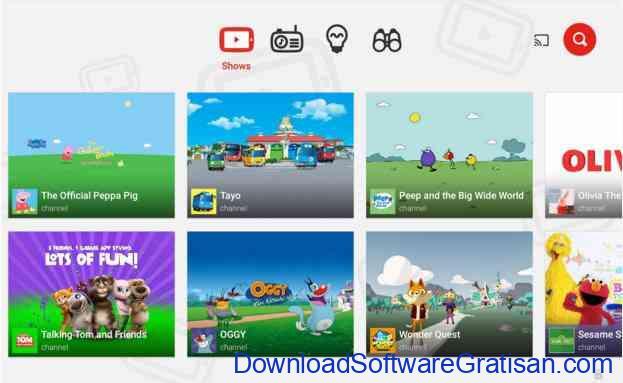 Aplikasi Gratis Android yang Berguna dan Bermanfaat YouTube Kids