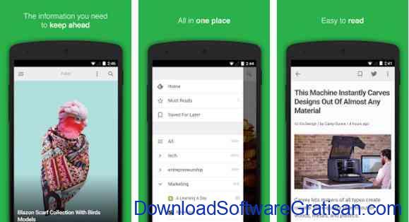 Aplikasi Gratis Android yang Berguna dan Bermanfaat feedly your work newsfeed