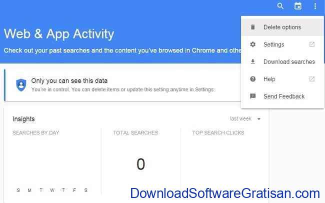 hapus history google