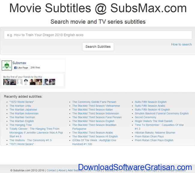 tempat download subtitle film subsmax