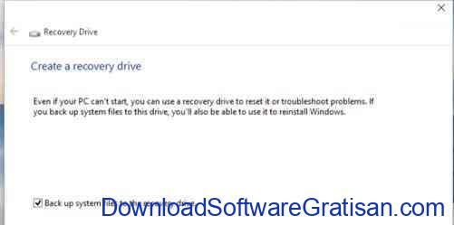 windows 10 backup-recovery drive creator