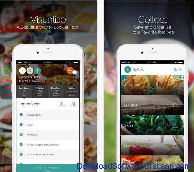Aplikasi Resep Makanan yummly-ios