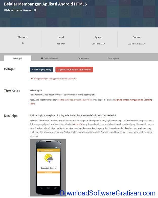 Alamat Website untuk Belajar Pemrograman Komputer Dicoding
