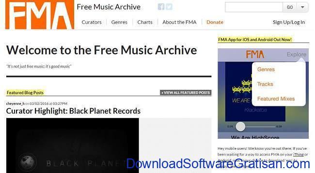 Situs Download Lagu Gratis Terbaik FreeMusicArchive