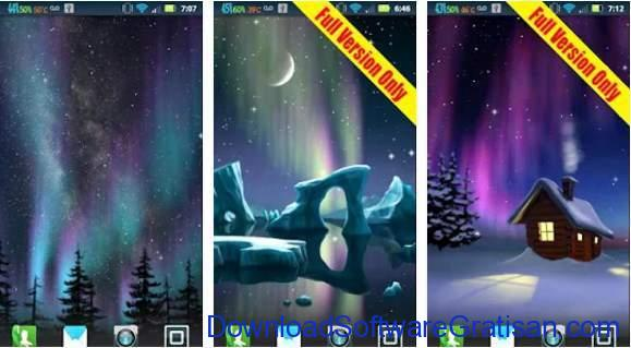Live Wallpapers Android Gratis Terbaik Northern Lights FREE (Aurora)