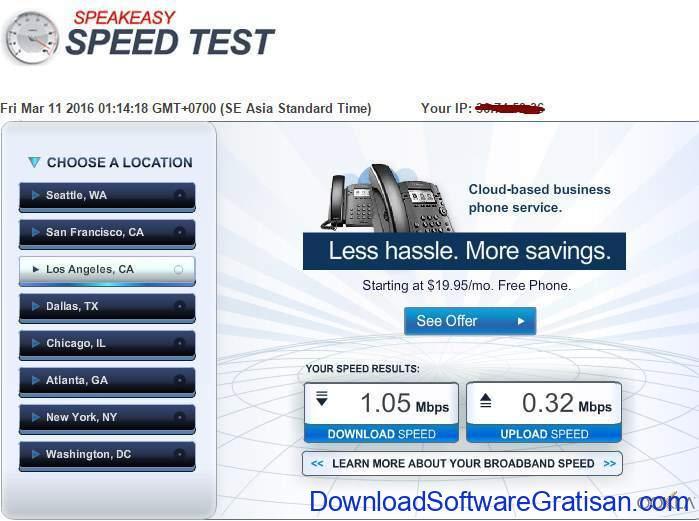 Situs Tes Kecepatan Internet Online Terbaik Speakeasy speed test