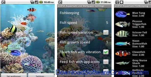 Live Wallpapers Android Gratis Terbaik aniPet Aquarium LiveWallpaper