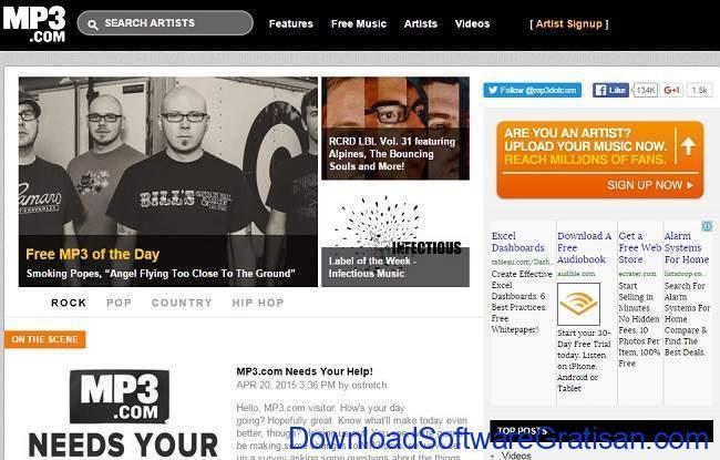 Situs Download Lagu Gratis Terbaik mp3.com
