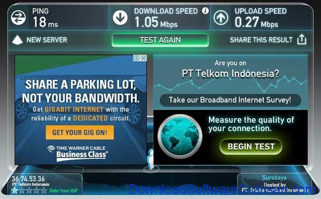 Situs Tes Kecepatan Internet Online Terbaik speedtest-net