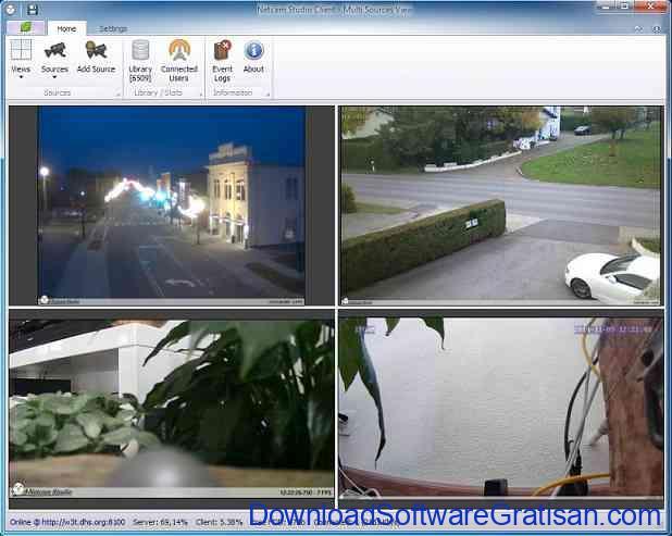 Aplikasi Kamera CCTV Netcam Studio