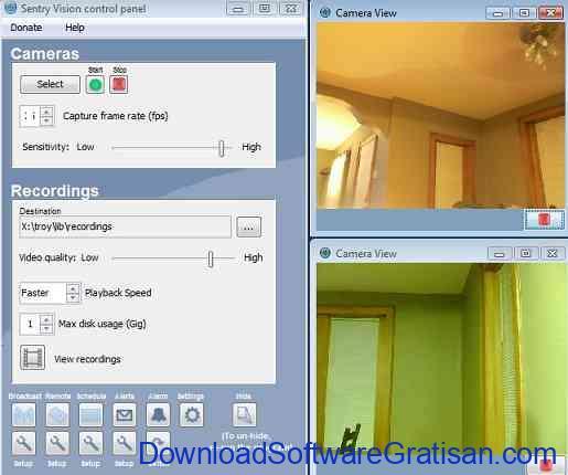 Aplikasi Kamera CCTV Sentry Vision