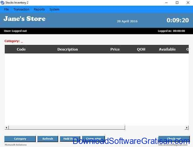 Aplikasi Persediaan Stok Barang dan Gudang Stocks Inventory