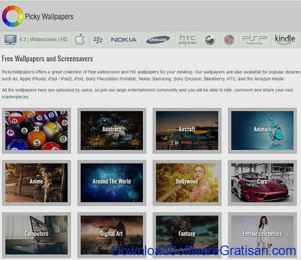 Situs Download Wallpaper HD Keren untuk Laptop pickywallpapers