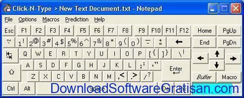 Aplikasi Keyboard Virtual Gratis Terbaik Click-N-Type