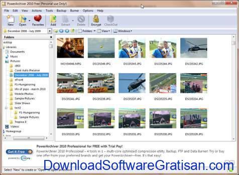 Aplikasi RAR PowerArchiver 2010 Free