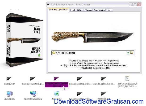 Aplikasi RAR RAR File Open Knife