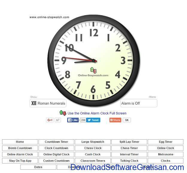 Situs Jam Alarm Online Online-Stopwatch