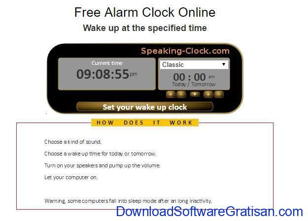 Situs Jam Alarm Online speaking-clock