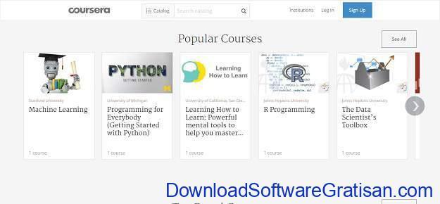 Situs Kursus IT Online Gratis Terbaik Coursera