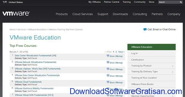 Situs Kursus IT Online Gratis Terbaik VMware