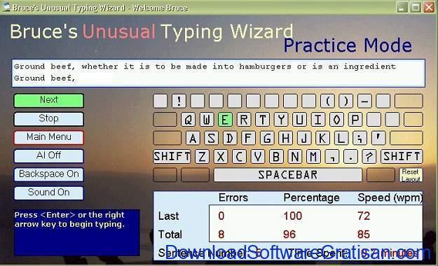 Tes Kecepatan Mengetik 10 Jari Bruces Unusual Typing Wizard