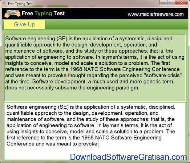 Tes Kecepatan Mengetik 10 Jari Free Typing Test