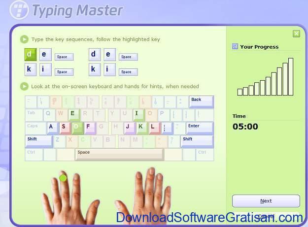 Tes Kecepatan Mengetik 10 Jari Typing Master