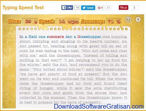Tes Kecepatan Mengetik 10 Jari Typing Speed Test