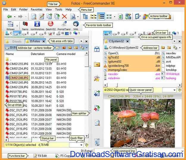 Aplikasi File Manager Gratis Terbaik FreeCommander XE