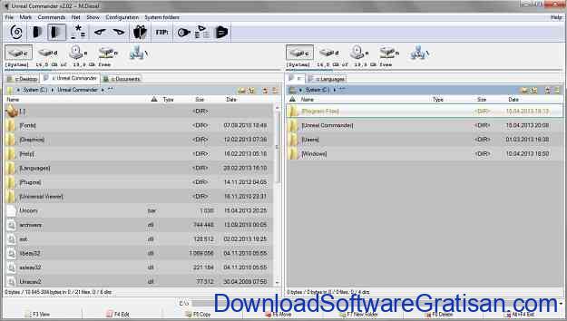 Aplikasi File Manager Gratis Terbaik Unreal Commander