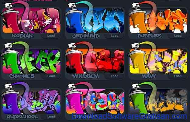Aplikasi untuk membuat grafiti Font Style