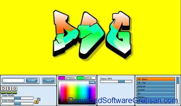 Aplikasi untuk membuat grafiti editor