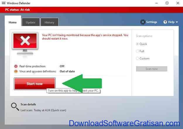 Mematikan Windows Defender