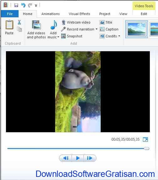 Merotasi Video Dengan Movie Maker Origin
