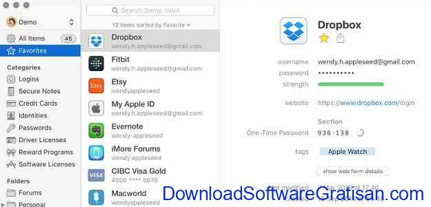 Password Manager Gratis Terbaik 1password